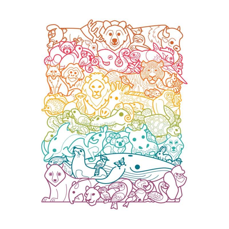 Animal Spectrum : Outline Women's Zip-Up Hoody by Waynem