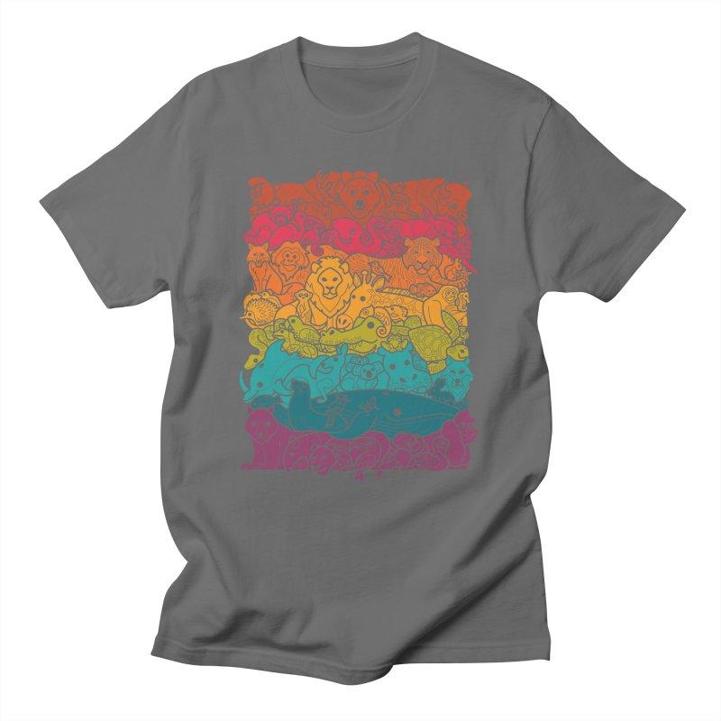 Animal Spectrum : Dark Men's T-Shirt by Waynem