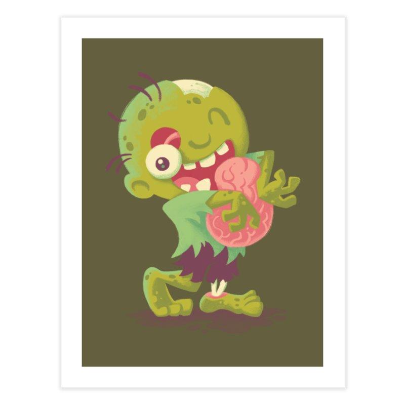Zombie Hugs Home Fine Art Print by Waynem