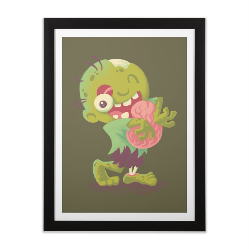Zombie Hugs Home Framed Fine Art Print by Waynem