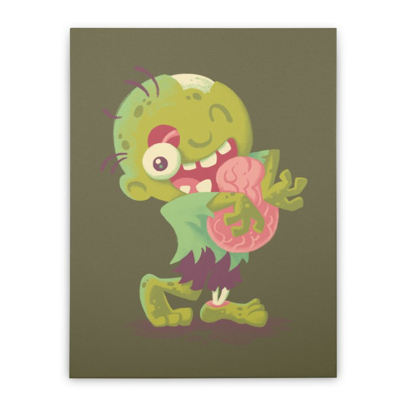 Zombie Hugs Home Stretched Canvas by Waynem
