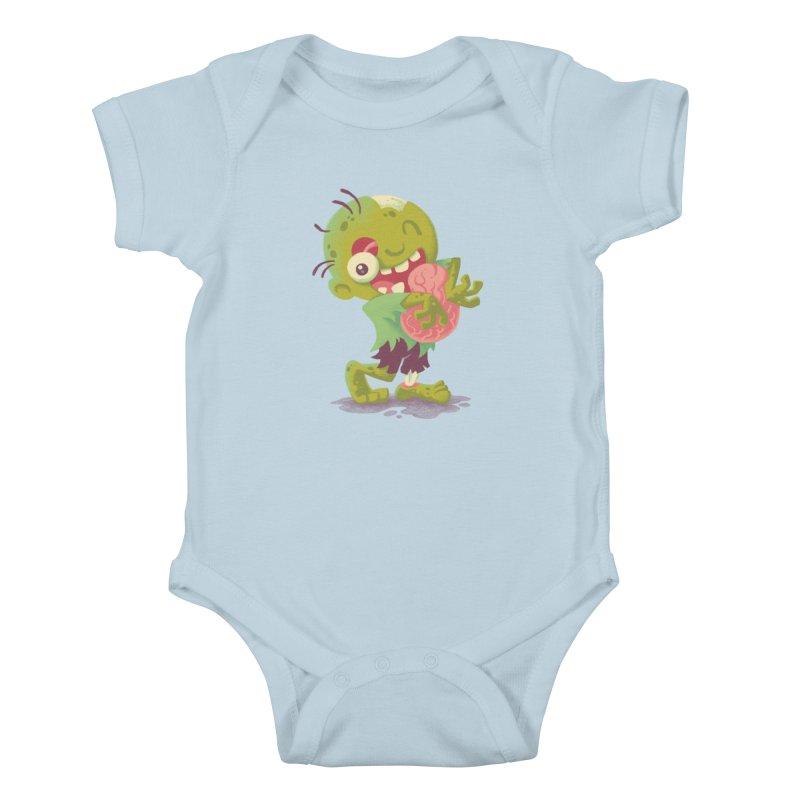 Zombie Hugs Kids Baby Bodysuit by Waynem