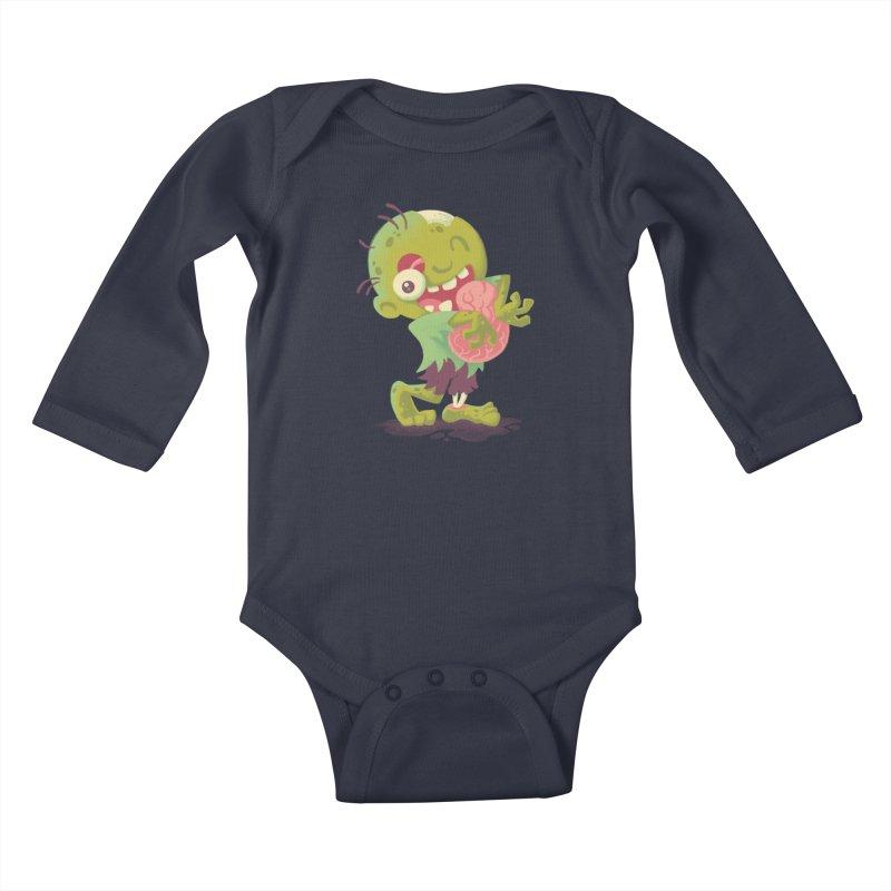 Zombie Hugs Kids Baby Longsleeve Bodysuit by Waynem