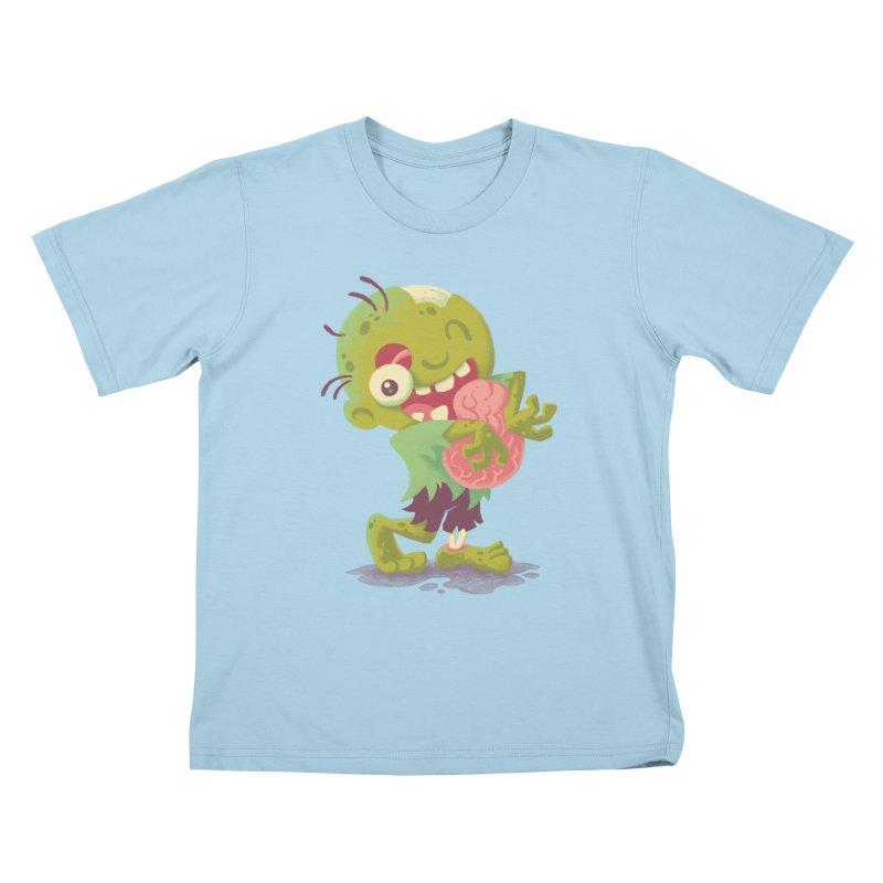 Zombie Hugs Kids T-shirt by Waynem