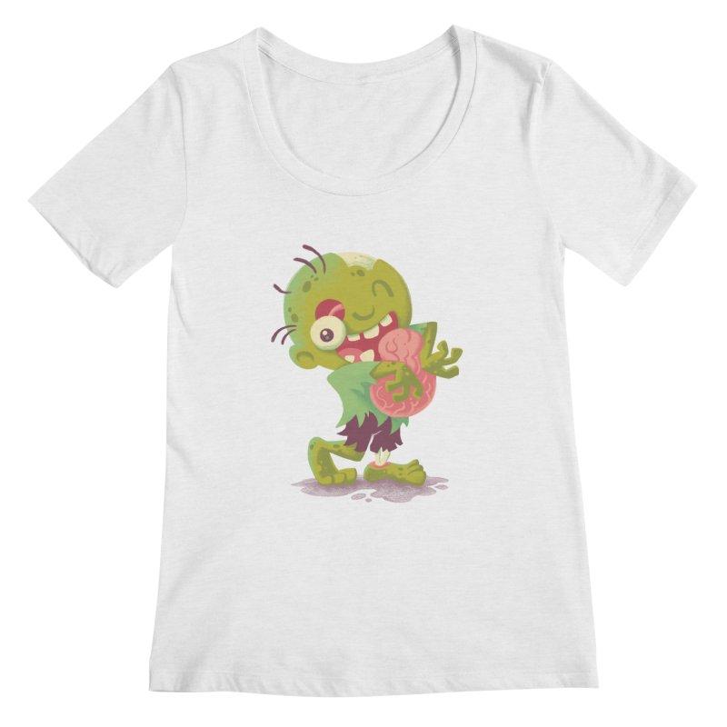 Zombie Hugs Women's Scoopneck by Waynem