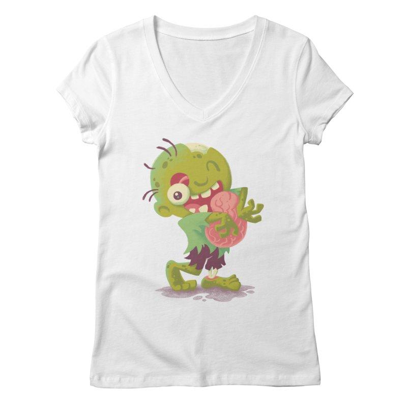 Zombie Hugs Women's V-Neck by Waynem