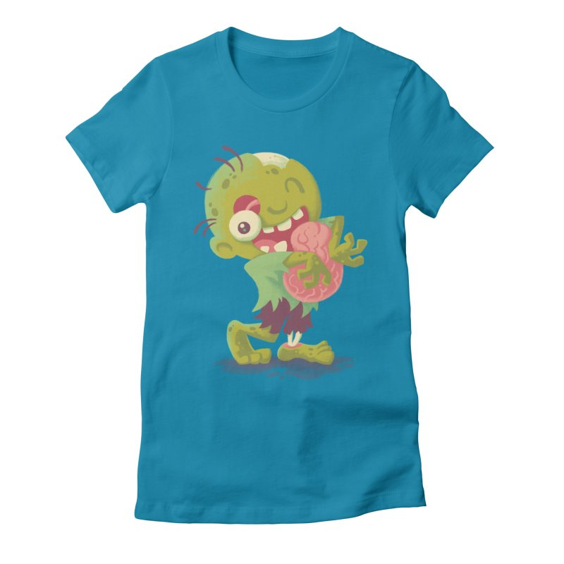 Zombie Hugs Women's Fitted T-Shirt by Waynem