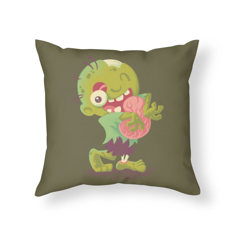 Zombie Hugs Home Throw Pillow by Waynem