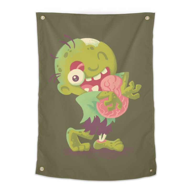 Zombie Hugs Home Tapestry by Waynem