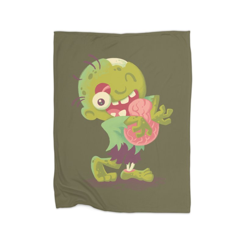 Zombie Hugs Home Fleece Blanket by Waynem