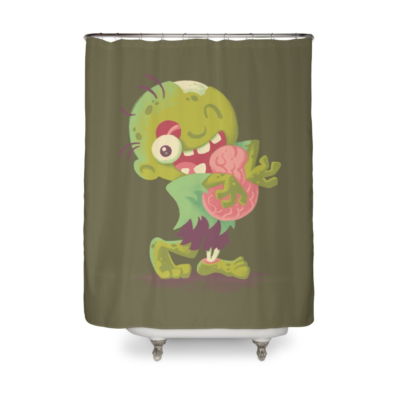 Zombie Hugs Home Shower Curtain by Waynem