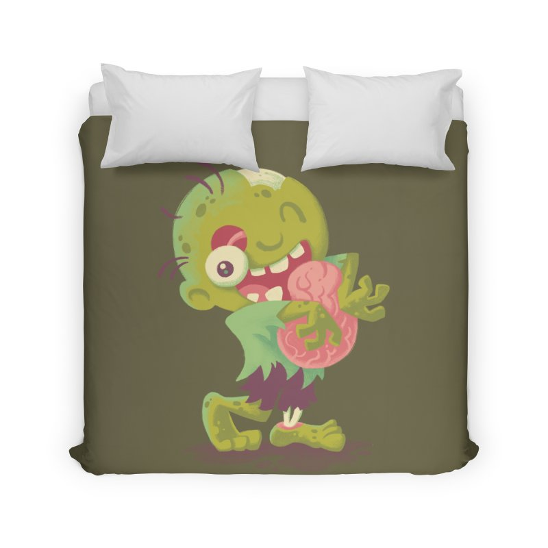 Zombie Hugs Home Duvet by Waynem