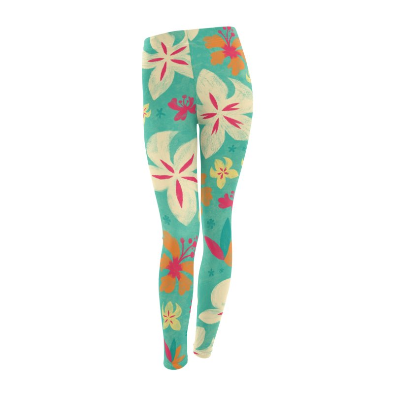 Tropicana Floral Women's Leggings Bottoms by Waynem