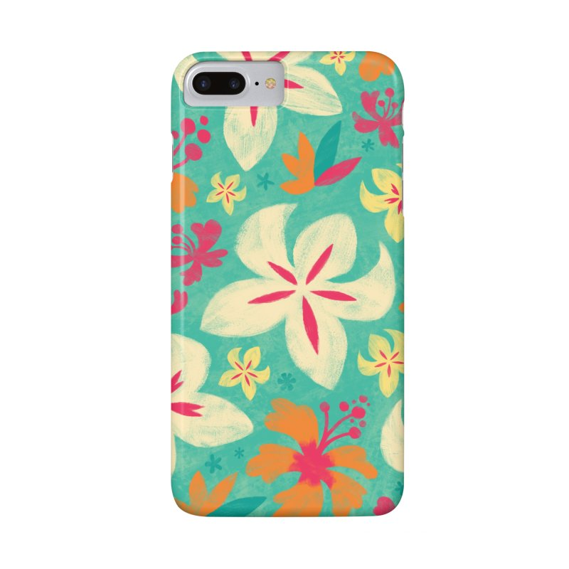 Tropicana Floral Accessories Phone Case by Waynem