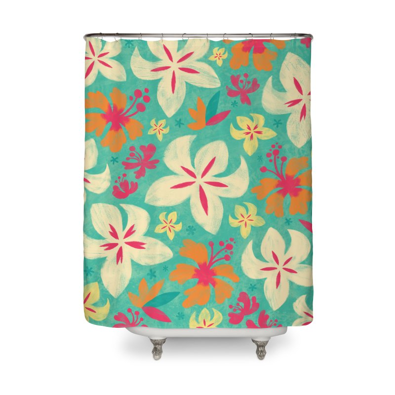Tropicana Floral Home Shower Curtain by Waynem