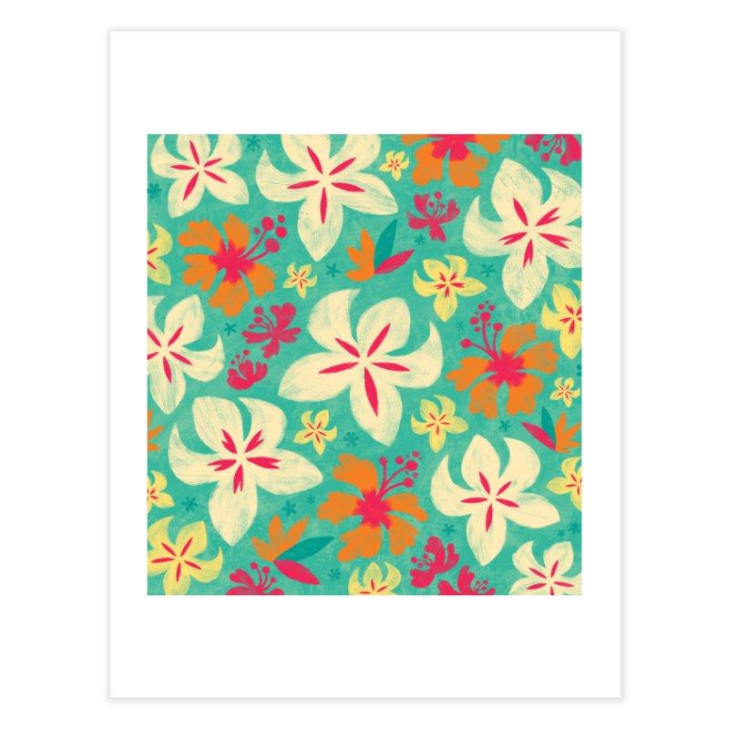 Tropicana Floral Home Fine Art Print by Waynem