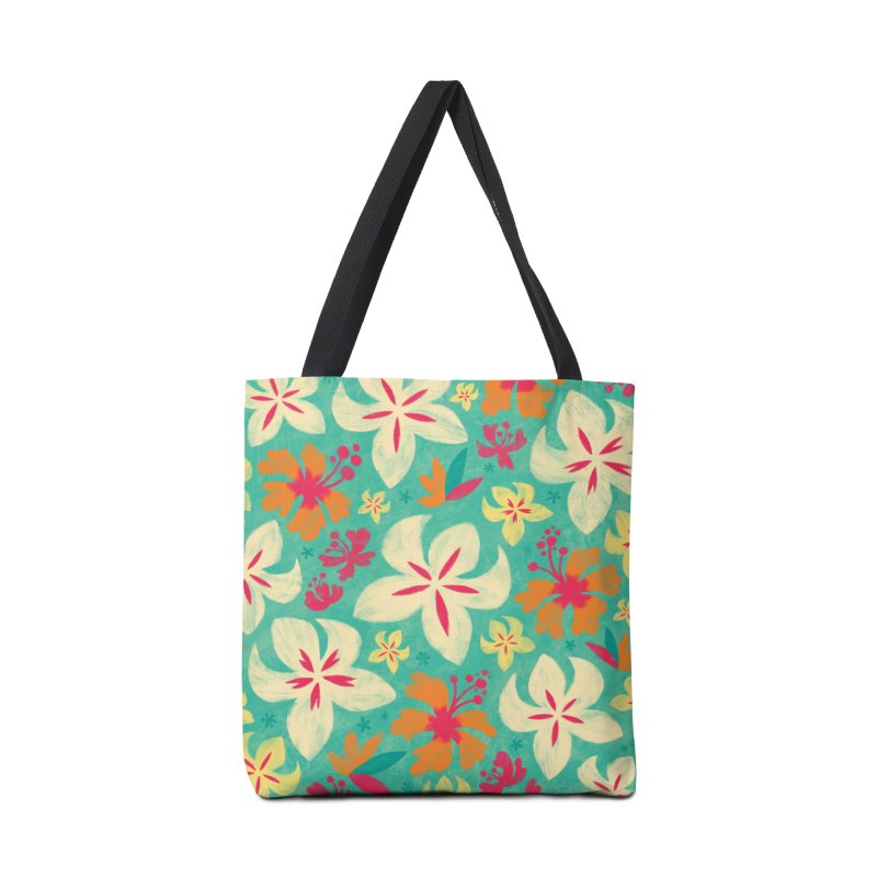 Tropicana Floral Accessories Bag by Waynem