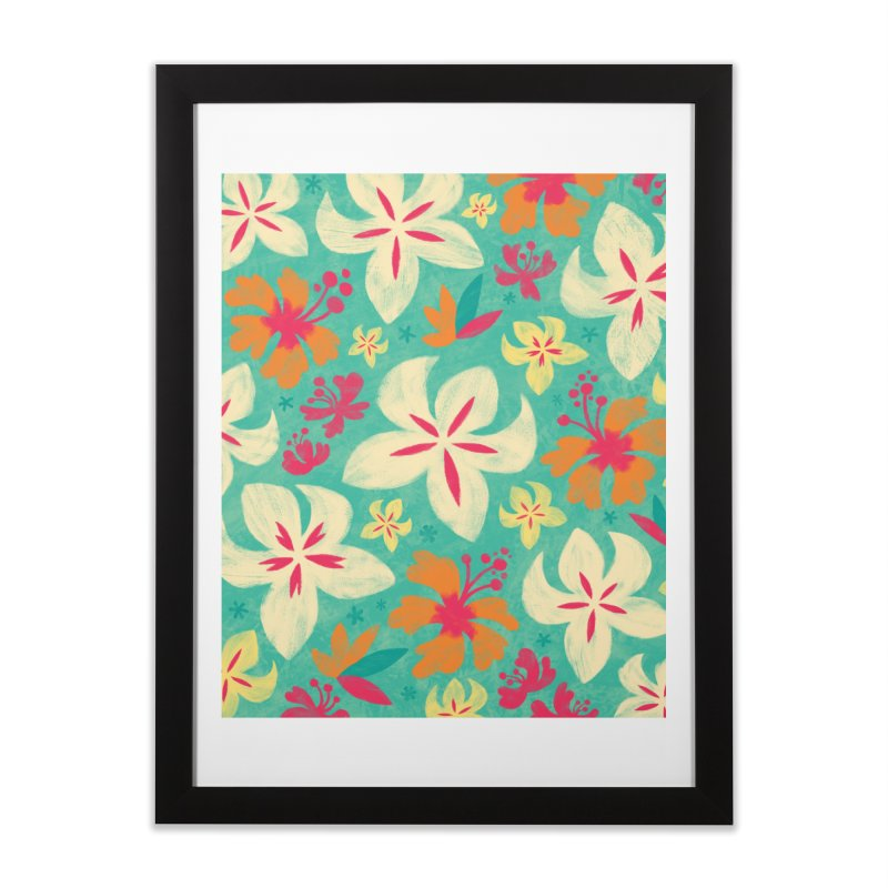Tropicana Floral Home Framed Fine Art Print by Waynem
