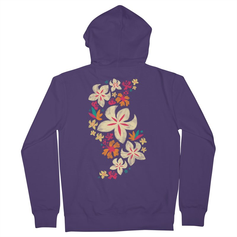 Tropicana Floral Women's Zip-Up Hoody by Waynem