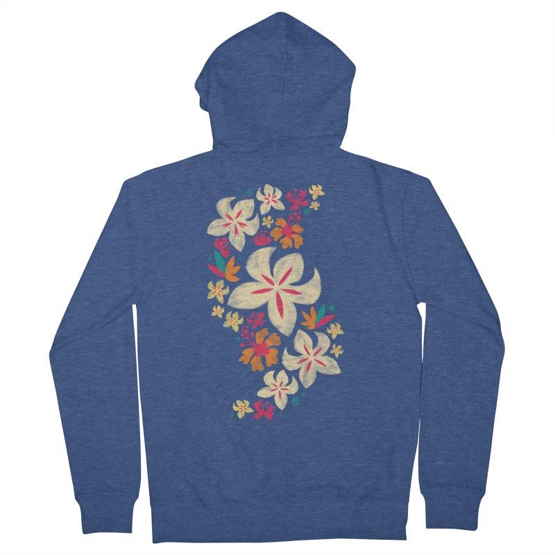 Tropicana Floral Men's Zip-Up Hoody by Waynem
