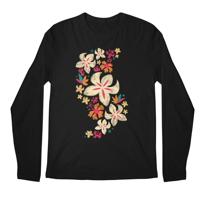 Tropicana Floral Men's Longsleeve T-Shirt by Waynem