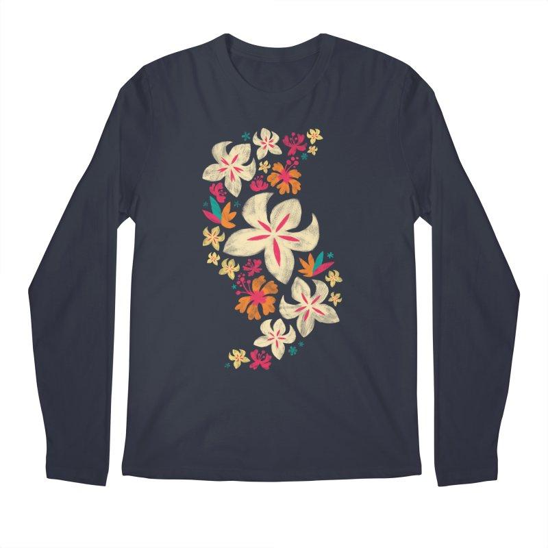 Tropicana Floral Men's Longsleeve T-Shirt by Waynem
