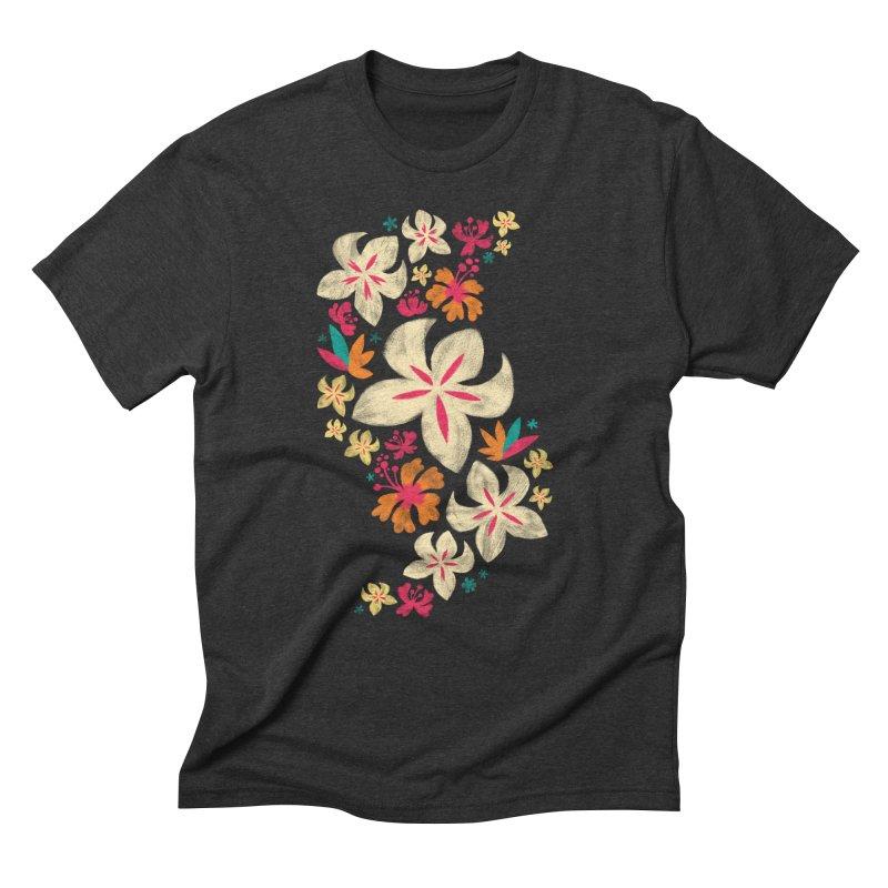 Tropicana Floral Men's Triblend T-shirt by Waynem