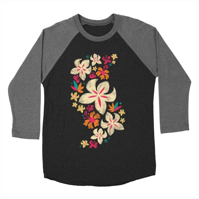 Tropicana Floral Women's Baseball Triblend T-Shirt by Waynem