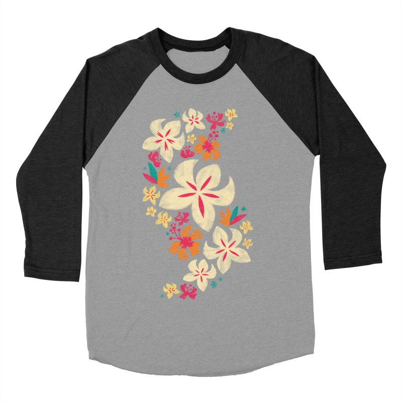 Tropicana Floral Women's Baseball Triblend T-Shirt by Waynem