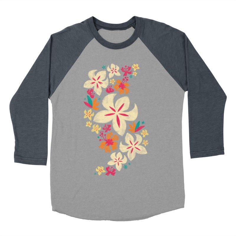 Tropicana Floral Men's Baseball Triblend T-Shirt by Waynem