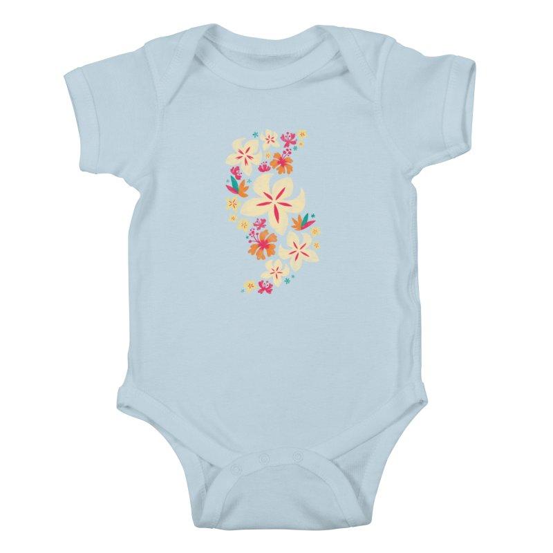 Tropicana Floral Kids Baby Bodysuit by Waynem
