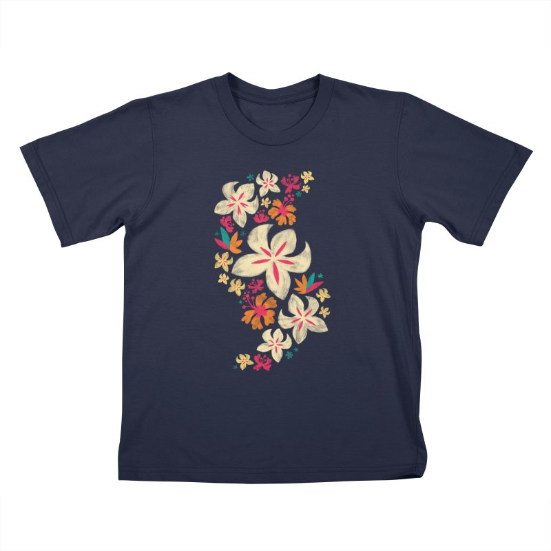 Tropicana Floral Kids T-Shirt by Waynem