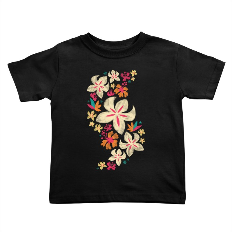 Tropicana Floral Kids Toddler T-Shirt by Waynem
