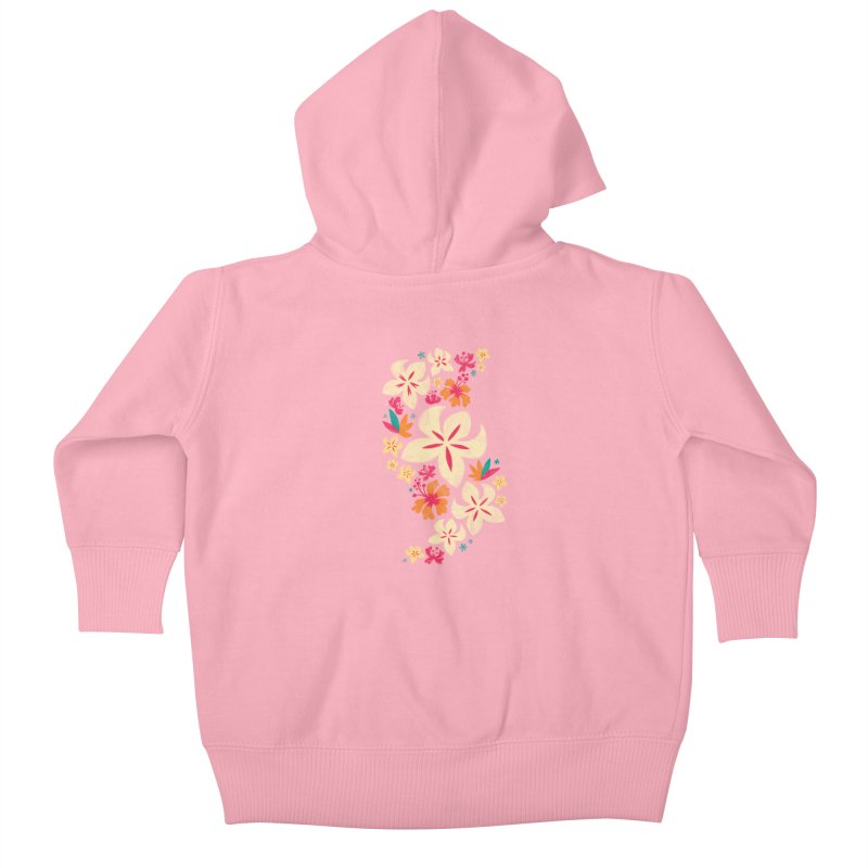 Tropicana Floral Kids Baby Zip-Up Hoody by Waynem