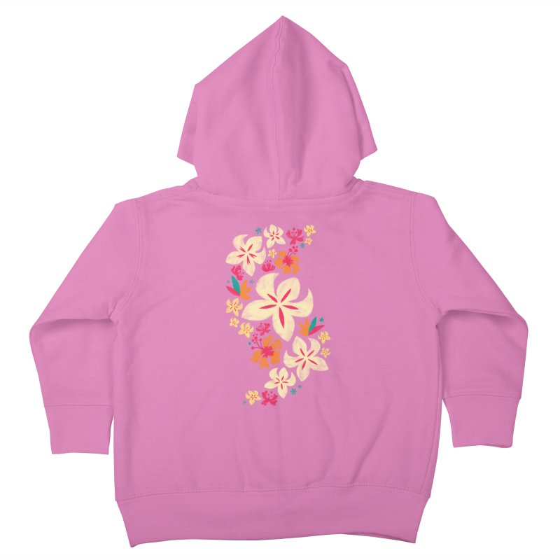 Tropicana Floral Kids Toddler Zip-Up Hoody by Waynem