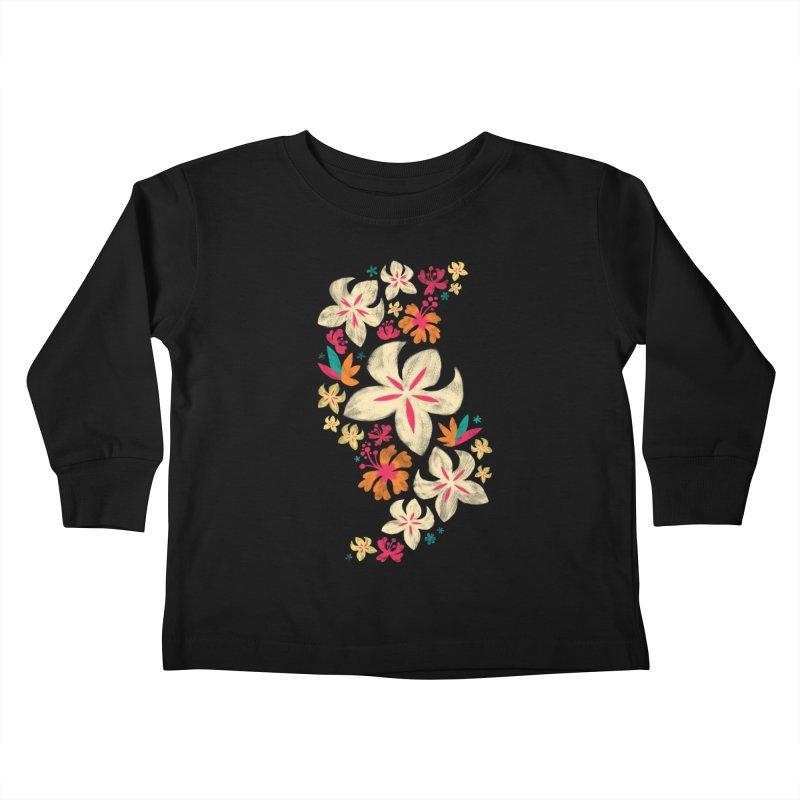 Tropicana Floral Kids Toddler Longsleeve T-Shirt by Waynem