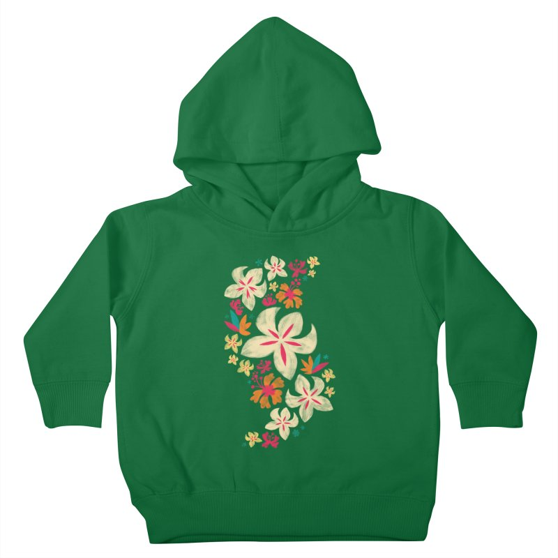 Tropicana Floral Kids Toddler Pullover Hoody by Waynem