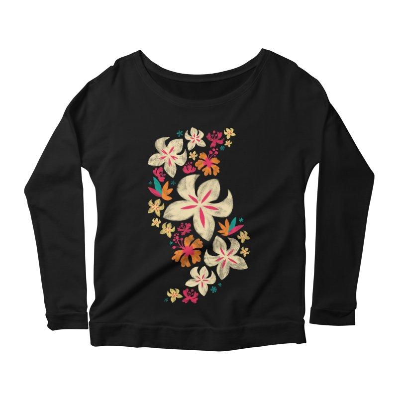 Tropicana Floral Women's Longsleeve Scoopneck  by Waynem