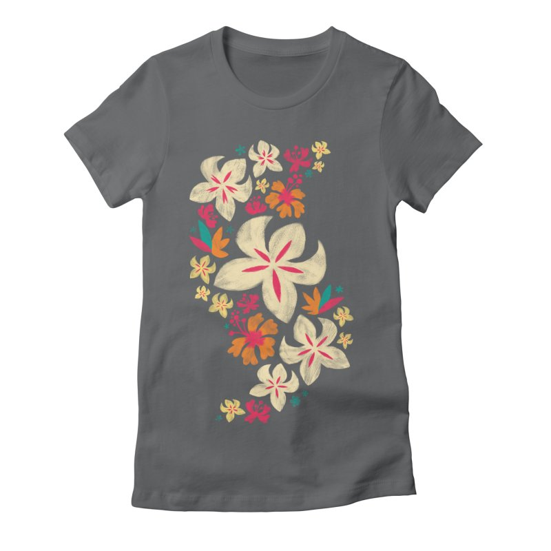 Tropicana Floral Women's Fitted T-Shirt by Waynem