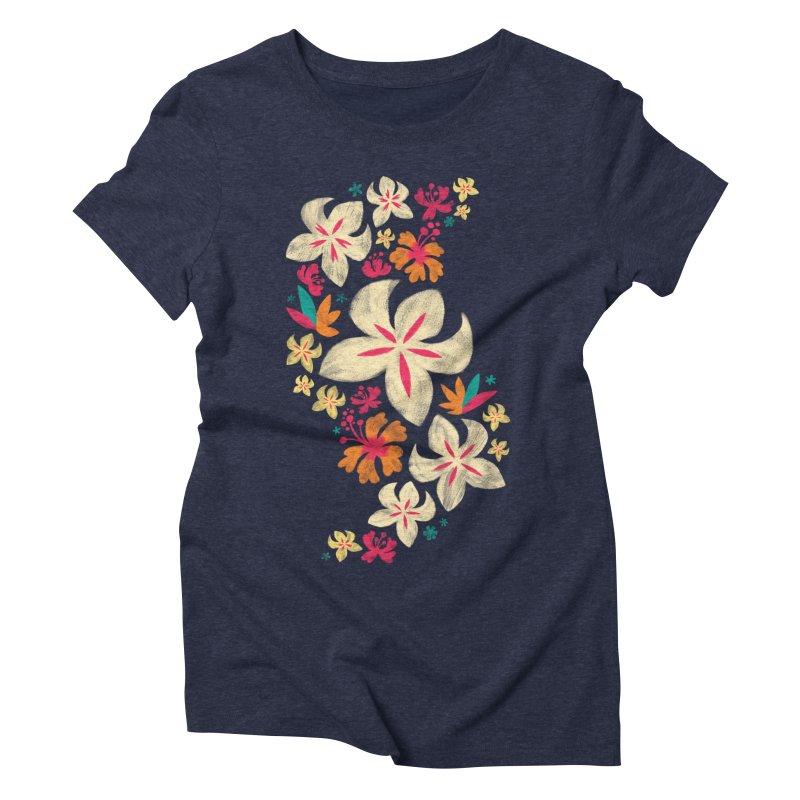 Tropicana Floral Women's Triblend T-shirt by Waynem