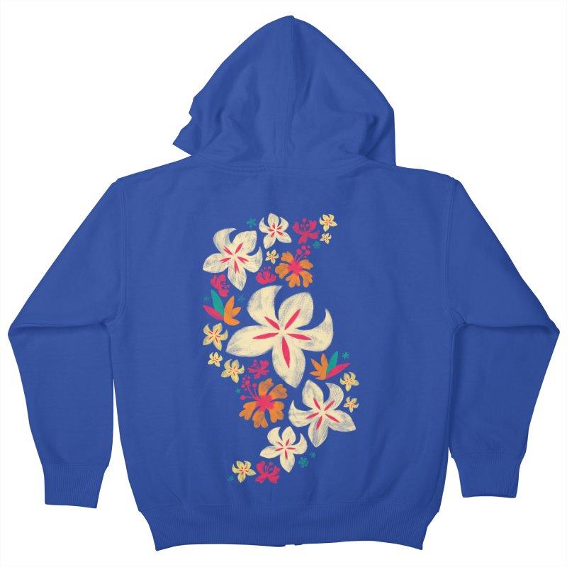 Tropicana Floral Kids Zip-Up Hoody by Waynem