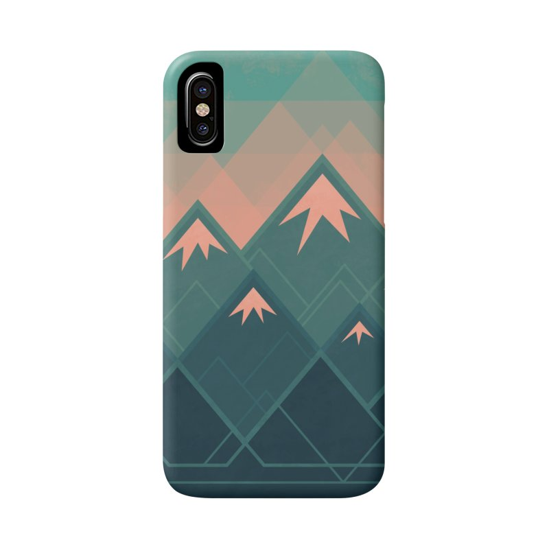 Geometric Mountains Accessories Phone Case by Waynem