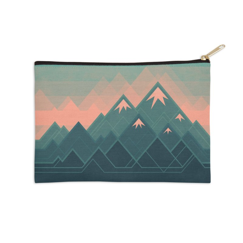 Geometric Mountains Accessories Zip Pouch by Waynem