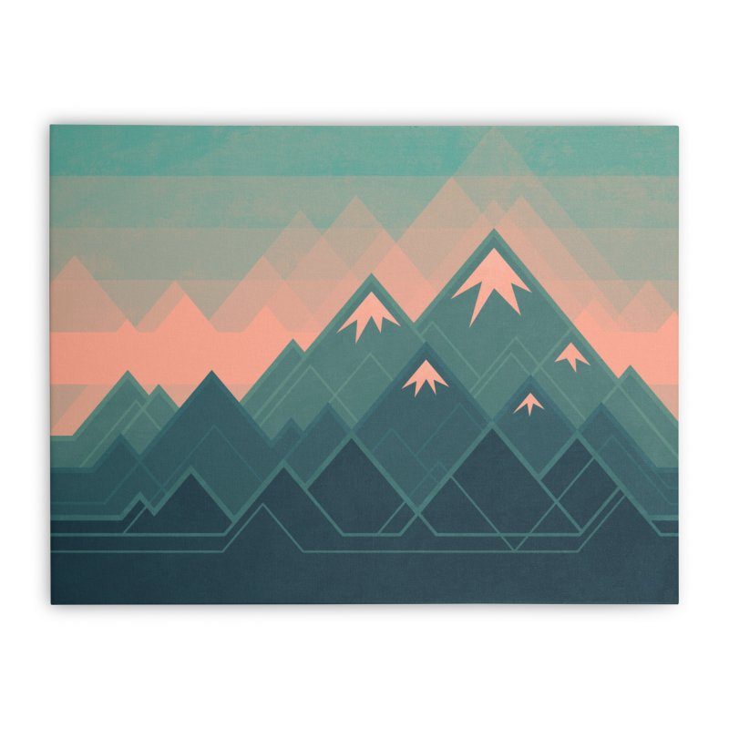 Geometric Mountains Home Stretched Canvas by Waynem
