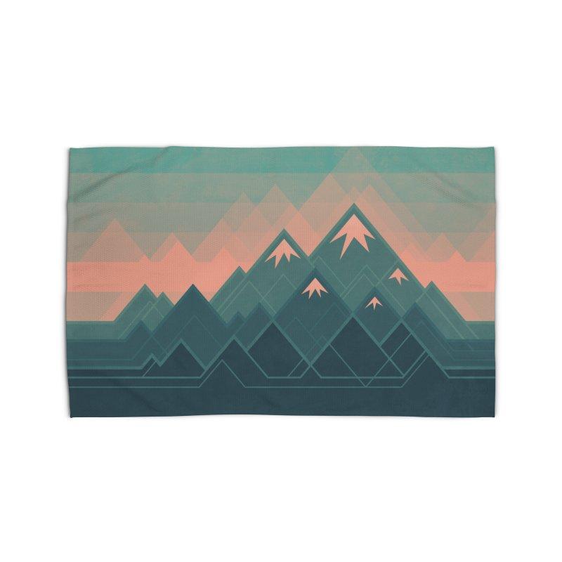Geometric Mountains Home Rug by Waynem