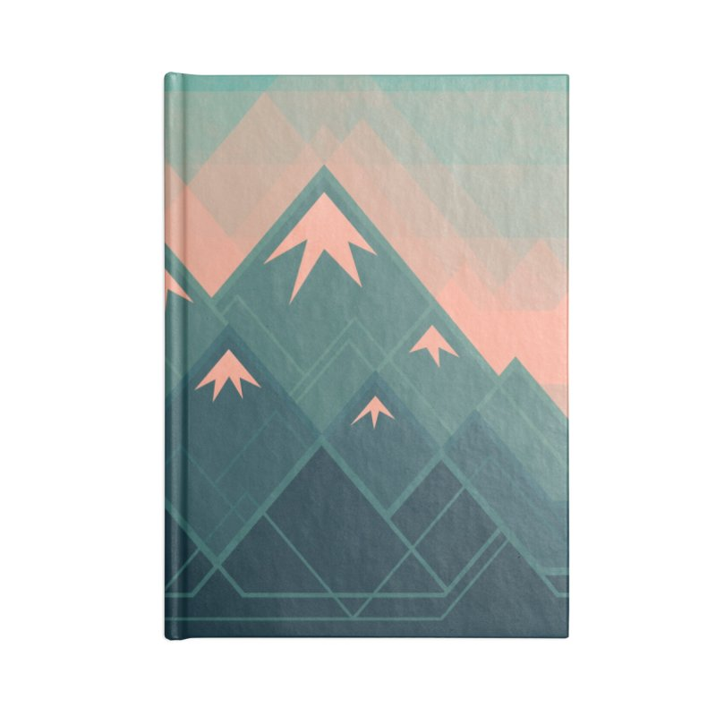 Geometric Mountains Accessories Notebook by Waynem