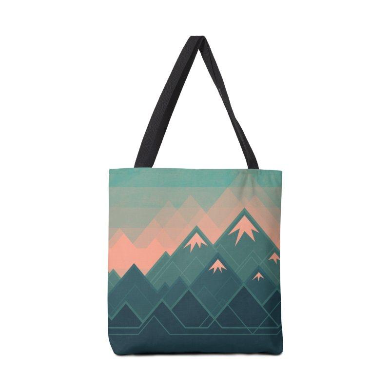 Geometric Mountains Accessories Bag by Waynem