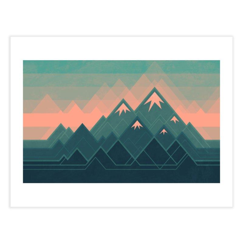 Geometric Mountains Home Fine Art Print by Waynem