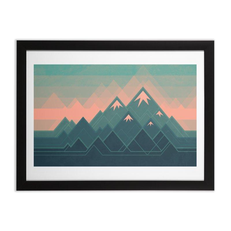 Geometric Mountains Home Framed Fine Art Print by Waynem