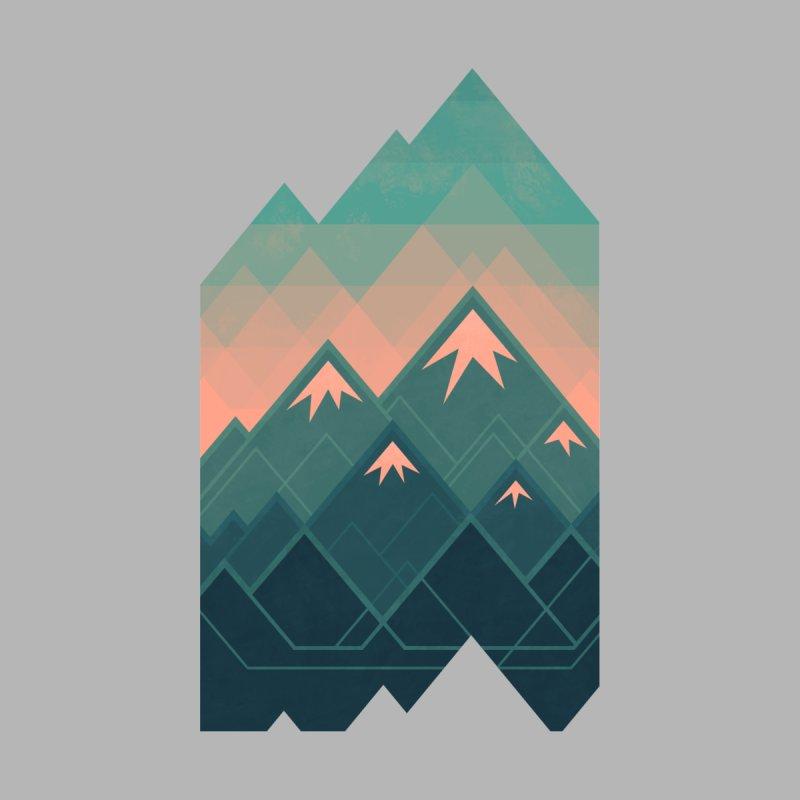 Geometric Mountains Women's Muscle Tank by Waynem